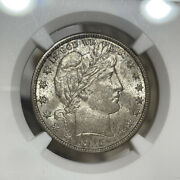 1915-d Ngc And Cac Ms64 Barber Half Silver Dollar