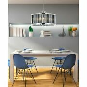 Polished Nickel Dining Room Kitchen Silver Shade Crystal Chandelier 8 Light 28