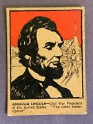 1930 Post Famous North Americans Abraham Lincoln Ex