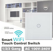 Wifi Led Light Smart Switch Wall Touch Screen Crystal Glass Panel Kit 1