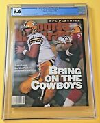 Brett Favre Sports Illustrated Cgc 9.6 Rookie Cover 1/15/96 Top Pop None Higher
