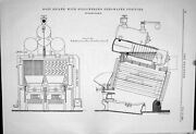 Old Print Root Boiler Stollwerck Purifier Feed-water Thrasher Spring 1883 19th