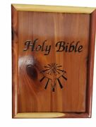 Holy Bible Dove Of Peace 1991 Catholic Edition Wood Cedar Box Remembrance