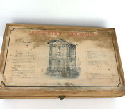 Victorian Wooden Block Toy Building Set Paper Litho 1890s French M And R Lathiere