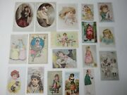Lot Of 18 Antique Victorian Trade Cards - Mixed Companies.