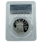 2006-w Pcgs Pr70dcam Statue Of Liberty Platinum Eagle 100 Flawless Coin