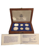 1986 Us Liberty Commemorative 6 Coin Set - 2 Silver Dollars, 2 Gold 5 Coins