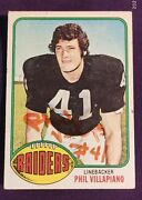 Autographed 1972 Topps Raiders Phil Villapiano Football Card 108