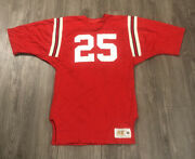 Vintage Russell Athletic 25 Authentic Football Jersey Size M Red White