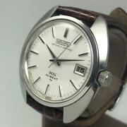 Seiko King Seiko 4502-8010 Date Antique Silver Dial Hand Winding Menand039s Watch