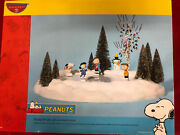 Dept 56-peanuts On Ice Animated Ice Skating Rink Snoopy Lucy Linus Charlie