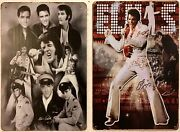 Two 8x12 Tin Signs Elvis Presley Rock Roll Music Singer Movie Star King 869