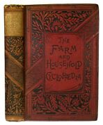 1888 Farm And Home Guide Antique Cookbook Rural Architecture Horse Bees Tools Old