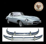 Brand New Jaguar E-type Xke Series 2 Stainless Steel Bumpers