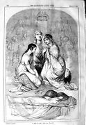 Original Old Antique Print 1847 National Fast Dead Body Religion 19th