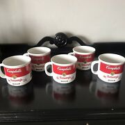 Lot Of 5 -vintage Campbell's Soup Mugs Homestyle 1989 14 Oz