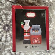 Bbq Santa Yard Christmas Inflatable With Grill Works With Lights 5ft