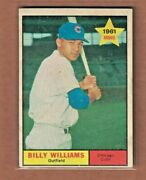 1961 Topps Baseball Card Billy Williams Chicago Cubs 141 Rc