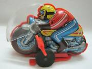Tin Toy Motorcycles Made In Japan Retro Antique Bike Spring Movable