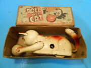 Made In Occupied Japan Tin Toy Rollover Cat Mobile Springo24