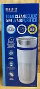Homedics Total Clean Deluxe 5 In 1 Uv Air Purifier Tower New Free Shipping
