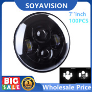 100pcs/carton Black 7 Inch 40w Led Projector Headlight H4 For Harley Motorcycles