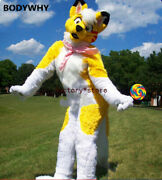 Handmade High Quilty Long Fur Mascot Costume Suits Cosplay High Quality Handmade