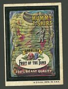 Wacky Packages Vintage Fruit Of The Tomb Mummy T-shirt Sticker Card Tan Back