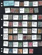 Early Used Denmark Stamp Collection -- Many Complete Sets