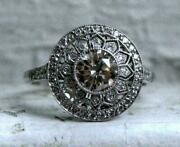 Antique And Vintage Art Deco Engagement Ring 14k White Gold Over 1.61 Ct Diamond