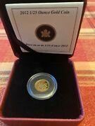 Canada 2012 Farewell To The Penny 1/25 Oz. Gold .9999 Proof Coin 503