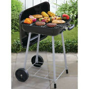 Black 17.5 Bbq Portable Charcoal Grill With Wheels Smoker Weber