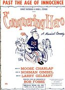 Past The Age Of Innocence Sheet Music The Conquering Hero Piano/vocal 1956 New