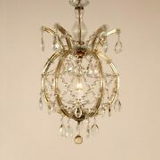 Vintage Crystal Chandelier Viennese Marie Therese Bohemian Lantern 1950s