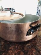Vintage Chomette Favor French Copper Large Rondeau Pot - 3mm Thickness