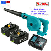 2 In 1 Cordless Leaf Dust Blower Vacuum Tool For Makita 18v W/battery Andcharger