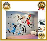 3d Basketball Player Wall Decals Stickers For Kids Room Decoration Waterproof