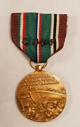 U.s. Ww11 European Middle Eastern Campaign 4 Star Medal And Ribbon Set