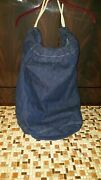 1940and039s Wwii Military Blue Denim Bag Great Condition