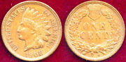 1908-s 1c Bn Key Date-mint Luster- Brown- Indian Small Cent++