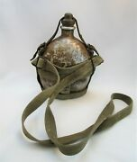 Wwii Ija Imperial Japanese Guadalcanal Relic Canteen Water Flask W/ Cork And Sling