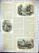 Original Old Antique Print Conemaugh Saw-mill Sang Hollow Furnace 1889 19th