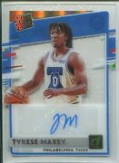Tyrese Maxey 2020-21 Clearly Donruss Rated Rookie Autograph Holo Gold 5/5 Auto