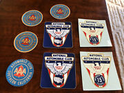 8 Vintage Unused National Automobile Club Member Safety Triple Aaa Decal Sticker