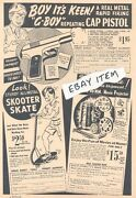 1941 Ad Advertisement G-boy Repeating Cap Pistol Toy Shooting Caps Chicago
