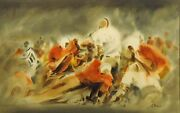 Doug Lew The Third Down Original Watercolor Painting Football Make An Offer