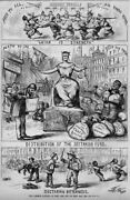 Thomas Nast Our Common School Tax Levy Distribution Of Sectarian Fund Catholic