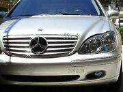Mercedes W220 S430 S500 S55 Grille Grill 2000 2001 2002 Amg Silver 5 Fin Star