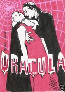 2009 Movie Posters Dracula Color Sketch Card By Brian Kong