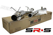 Srs T-304 Stainless Steel Catback Exhaust For Nissan 95-98 240sx S14 Jdm 3